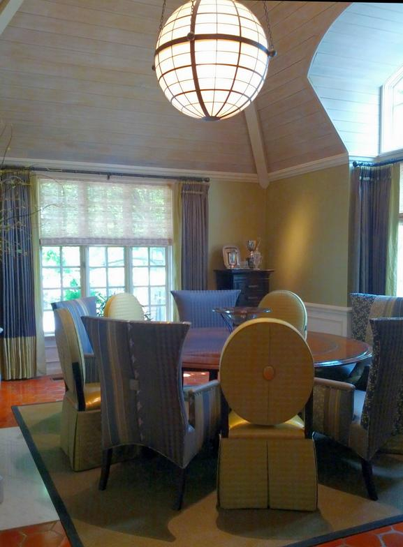 The Dining Chairs Were Designed By Oellien Design, Inc., And Use An  Overscaled