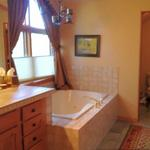 The Colorado master bathroom BEFORE renovation show how limited the room felt with some of the elements installed.
