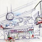 Metro Diner design study showing our overall design concept.