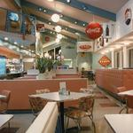 Metro Diner open dining area design.